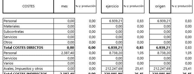 ERP para control obra. Control ejecución de obra.